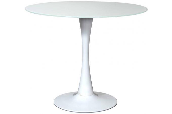 Table ronde en 90 coloris blanc billy design pas cher sur for Table ronde 90