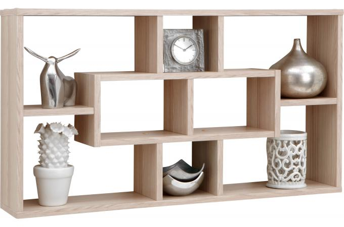 Tag re murale 8 cases ch ne kube etag re pas cher - Deco etagere murale salon ...
