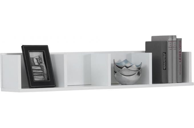 tag re murale horizontale 4 compartiments blanc etag re pas cher. Black Bedroom Furniture Sets. Home Design Ideas