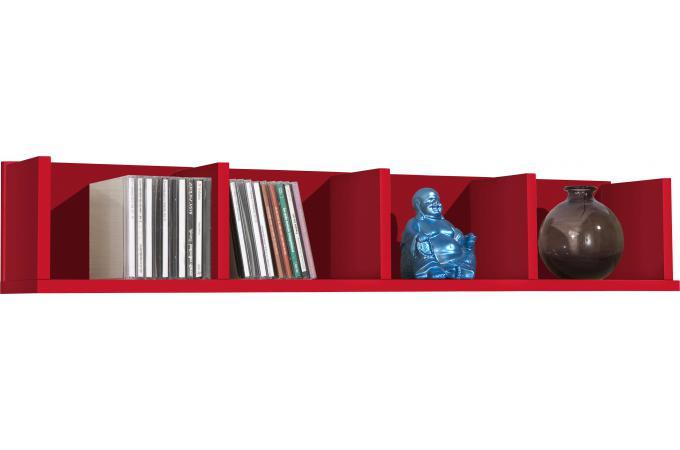 tag re murale horizontale 4 compartiments rouge etag re pas cher. Black Bedroom Furniture Sets. Home Design Ideas