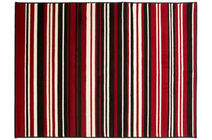 Tapis 100 polypropylene maidstone 60x220 rouge et noir tapis design pas cher - Tapis rouge et noir design ...