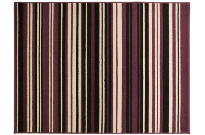 Tapis 100 polypropylene maidstone 60x220 violet et noir tapis design pas cher - Tapis violet et noir ...