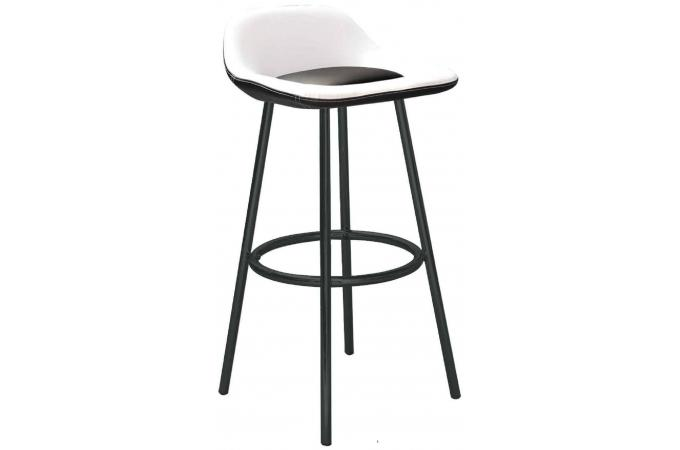 tabouret de bar lila noir et blanc tabouret de bar pas cher. Black Bedroom Furniture Sets. Home Design Ideas