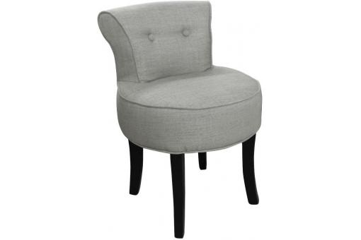 Petit fauteuil boudoir lin gris fauteuil crapaud pas cher - Petit fauteuil design pas cher ...