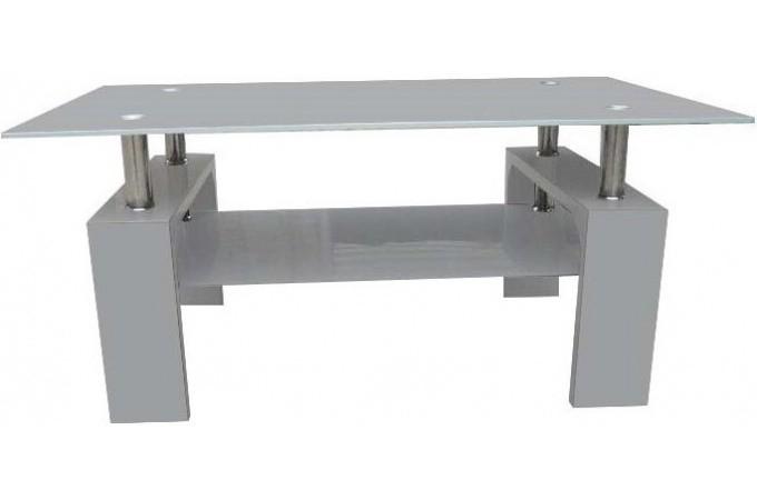 table basse grise verre georgia table basse pas cher. Black Bedroom Furniture Sets. Home Design Ideas