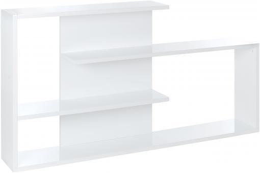 etagere blanche moderne 160 x 25 x 90 cm53259. Black Bedroom Furniture Sets. Home Design Ideas