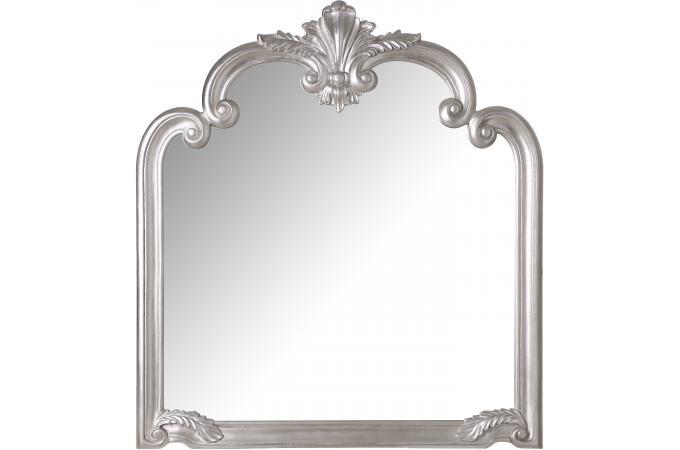 Miroir design argent 104 x 4 x 114 cm miroir - Miroir rectangulaire pas cher ...