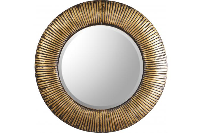 Miroir rond dor diam 46 5 cm navire miroir rond et for Miroir dore rond