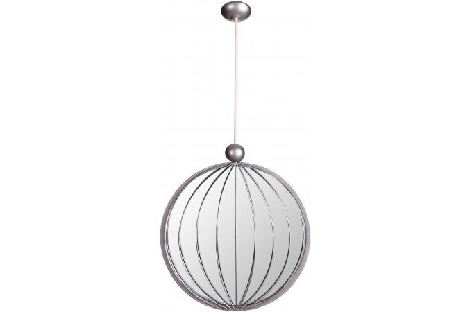 miroir rond suspendu argent 30 x 133 cm pendentif miroir rond et ovale pas cher. Black Bedroom Furniture Sets. Home Design Ideas