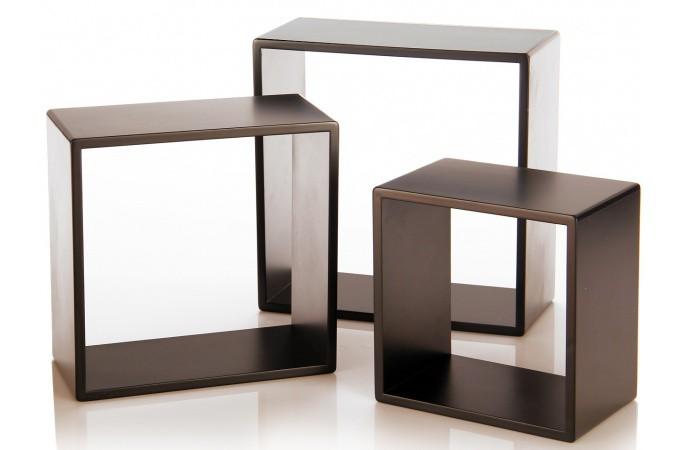tag re modulaire noire plaqu bois jos fina etag re pas. Black Bedroom Furniture Sets. Home Design Ideas