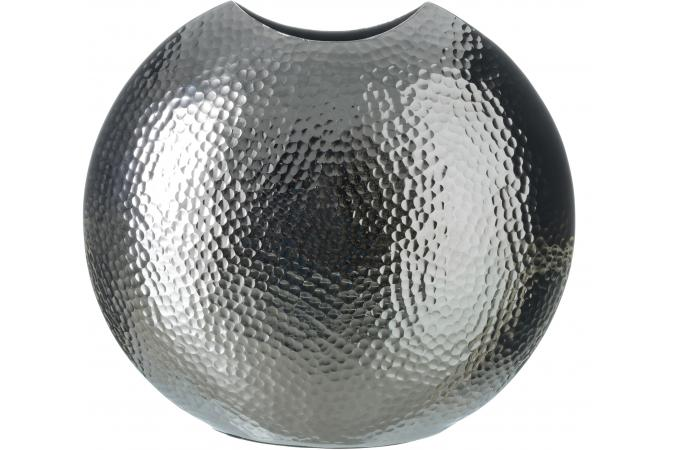 vase boule argent 36 x 34 cm suede vase pas cher. Black Bedroom Furniture Sets. Home Design Ideas