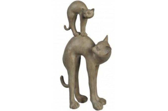 Declikdeco  Figurine crème Cats