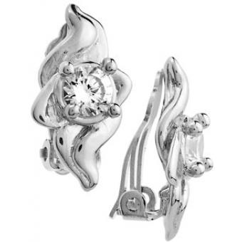 Boucles d'oreilles Cristaux Blancs - Jourdan Bijoux - Jourdan