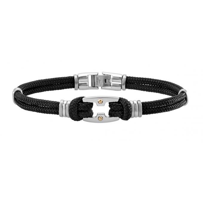 bracelet jourdan bijoux fz 153 noh bracelet acier cordon. Black Bedroom Furniture Sets. Home Design Ideas