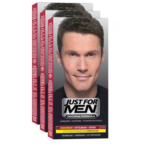 Just For Men - PACK 3 COLORATIONS CHEVEUX - Black Week Mencorner