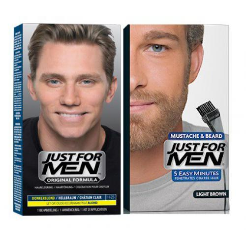 Just For Men - DUO COLORATION CHEVEUX & BARBE Châtain Clair - Black Week Mencorner