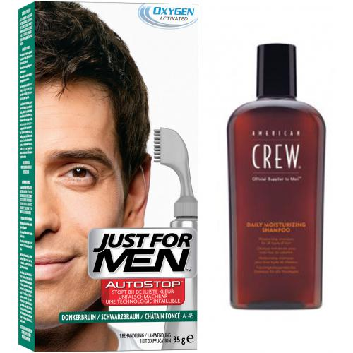 Just For Men - PACK AUTOSTOP & SHAMPOING Châtain Foncé - Coloration just for men