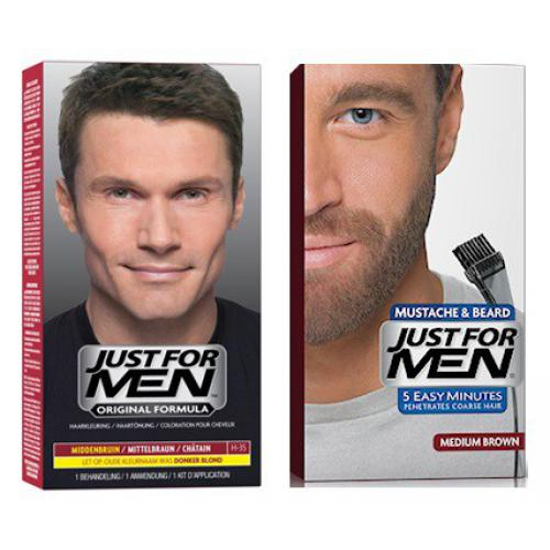 Just For Men - DUO COLORATION CHEVEUX & BARBE Châtain - Teinture barbe