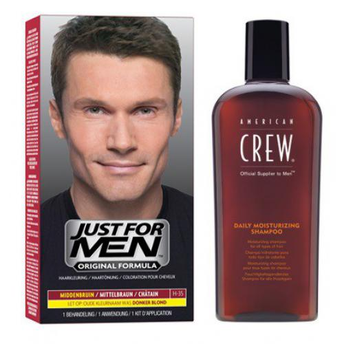 Just For Men - COLORATION CHEVEUX & SHAMPOING Châtain - Soldes Mencorner