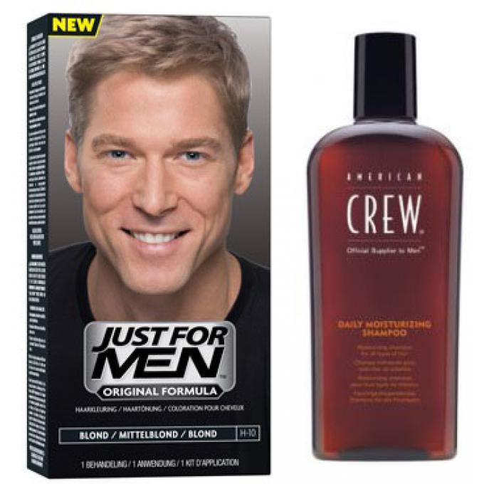 coloration cheveux shampoing blond pack just for men coloration cheveux barbe homme. Black Bedroom Furniture Sets. Home Design Ideas