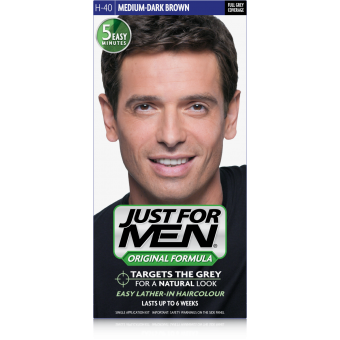 Just For Men - COLORATION CHEVEUX HOMME - Châtain Moyen Foncé - Coloration just for men