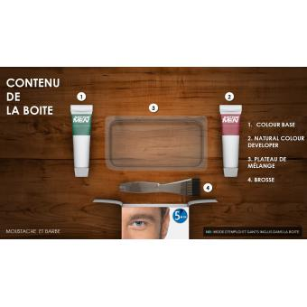PACK COLORATION BARBE & CISEAUX BARBE - Chatain Moyen Clair