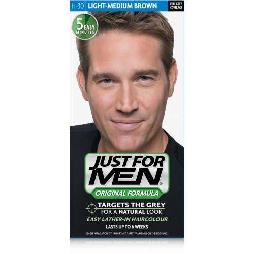 Just For Men - COLORATION CHEVEUX HOMME - Châtain Moyen Clair
