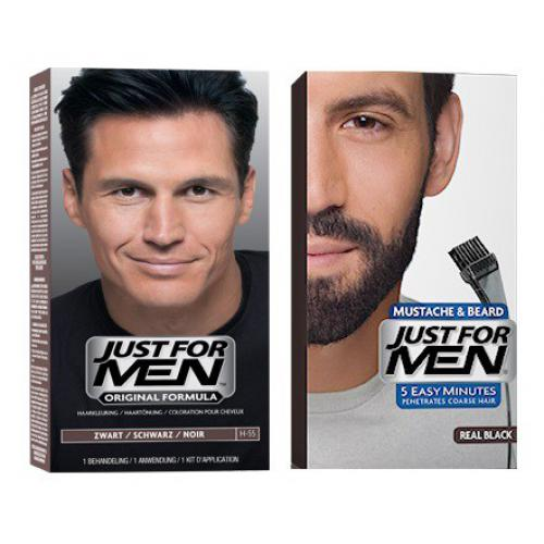 Just For Men - DUO COLORATION CHEVEUX & BARBE Noir Naturel - Black Week Mencorner