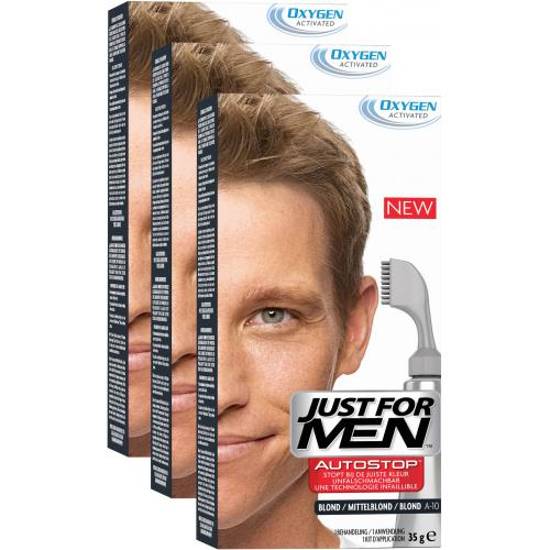 Just For Men - PACK 3 AUTOSTOP Blond - Soin cheveux homme
