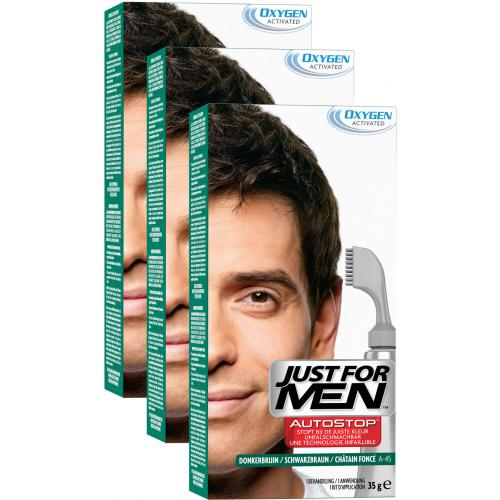 Just For Men - PACK 3 AUTOSTOP Châtain Foncé