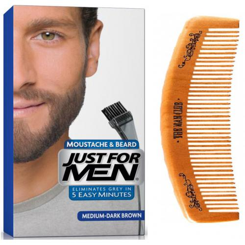 Just For Men - PACK COLORATION BARBE & PEIGNE - Châtain Moyen Foncé - Coloration just for men