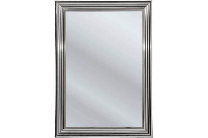 Miroir rectangulaire argent for Miroir metal pas cher