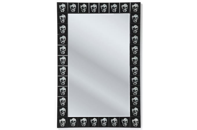Miroir kare design skull movie 120x80cm miroir for Miroir miroir film