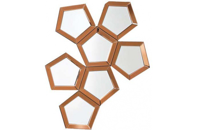 miroir pentagone kare design cuivre miroir rond et ovale. Black Bedroom Furniture Sets. Home Design Ideas