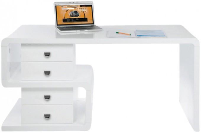 Bureau kare design blanc serpent bureau pas cher for Bureau laque blanc pas cher