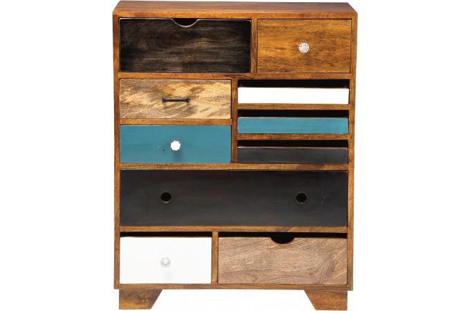 commode kare design multicolore plaqu bois coco commode pas cher. Black Bedroom Furniture Sets. Home Design Ideas