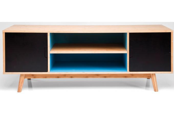 etag re sur pied multicolore plaqu bois sereine deco. Black Bedroom Furniture Sets. Home Design Ideas