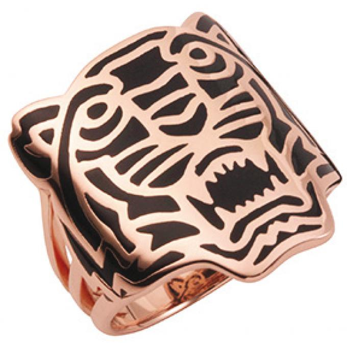 Bague Kenzo 702160701150 - Bague Or Rose Tigre Femme - Kenzo · Kenzo Bijoux  Fantaisie 597fba22e5bd