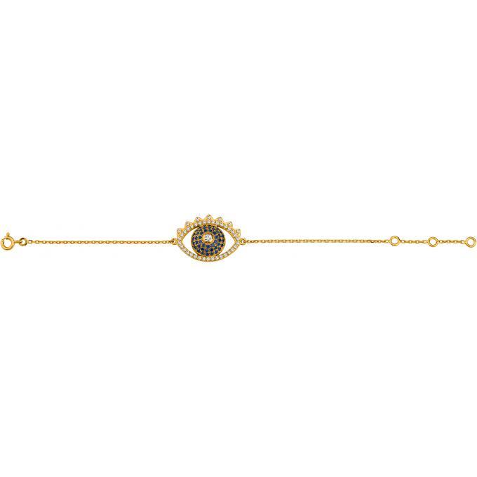 Bracelet Kenzo 70236790102190 , Bracelet Oeil Doré Femme , Kenzo