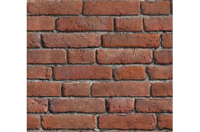 Papier peint briques rouges orang es papier peints - Papier peint brique relief ...