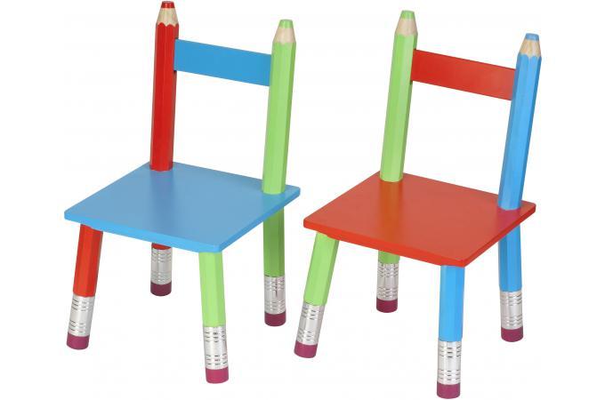 Set De 2 Chaises La Chaise Longue Crayons D Co Enfant