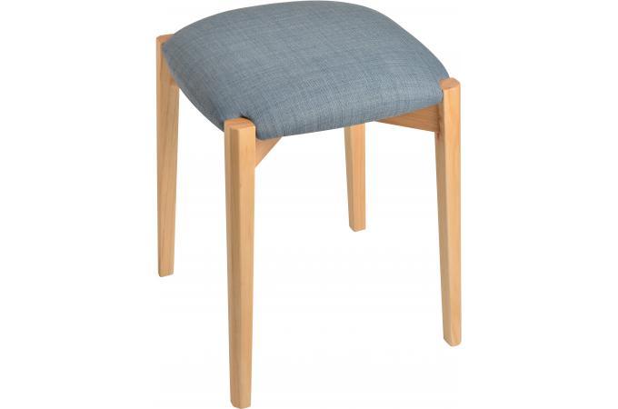 Tabouret la chaise longue galette bleue petit tabouret for Galette pour chaise pas cher