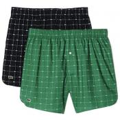 Lacoste Underwear - PACK DE 2 CALECONS CROC ALL OVER - Cadeau homme chic