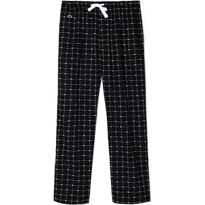 pantalon pyjama croc coton lacoste underwear pyjama peignoir homme. Black Bedroom Furniture Sets. Home Design Ideas