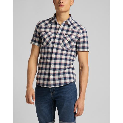 Lee - Chemise bleu SS Western - Mode homme