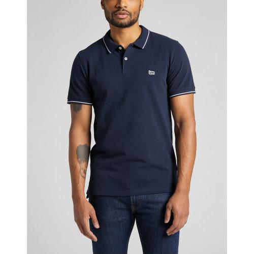 Lee - Polo bleu Pique Polo - Tee shirt homme