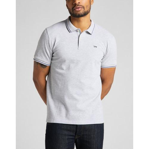Lee - Polo gris Pique Polo - Tee shirt homme