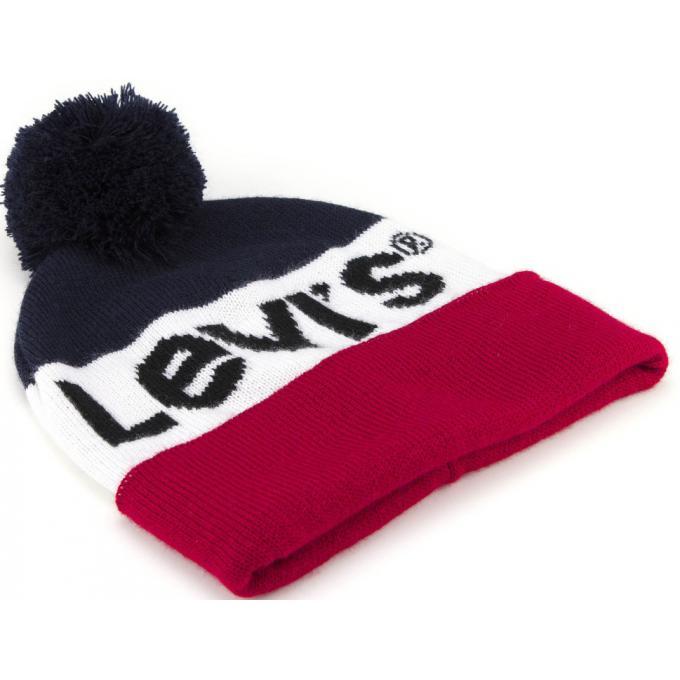 Coffret bonnet pompom et gants Levi s - Echarpe, gant   bonnet homme eff51c514fd