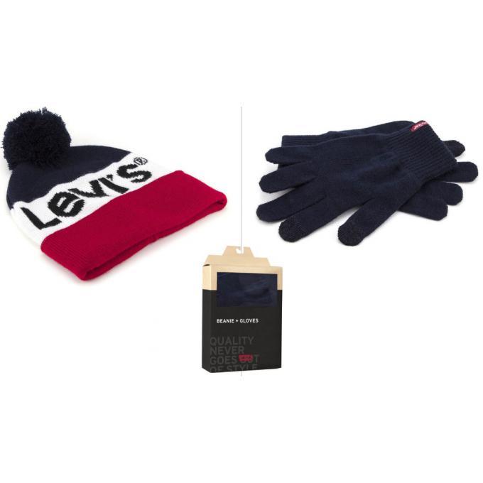 276f24eaa4de Coffret bonnet pompom et gants Levi s - Echarpe, gant   bonnet homme