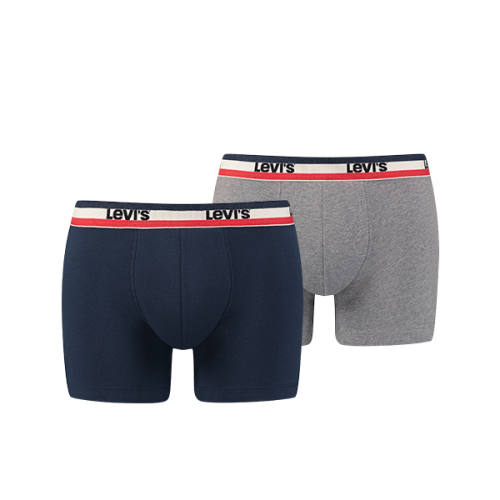 Levi's Underwear - LEVIS MEN SPRTSWR LOGO BOXER BRIEF 2P - Sous vetement levis homme